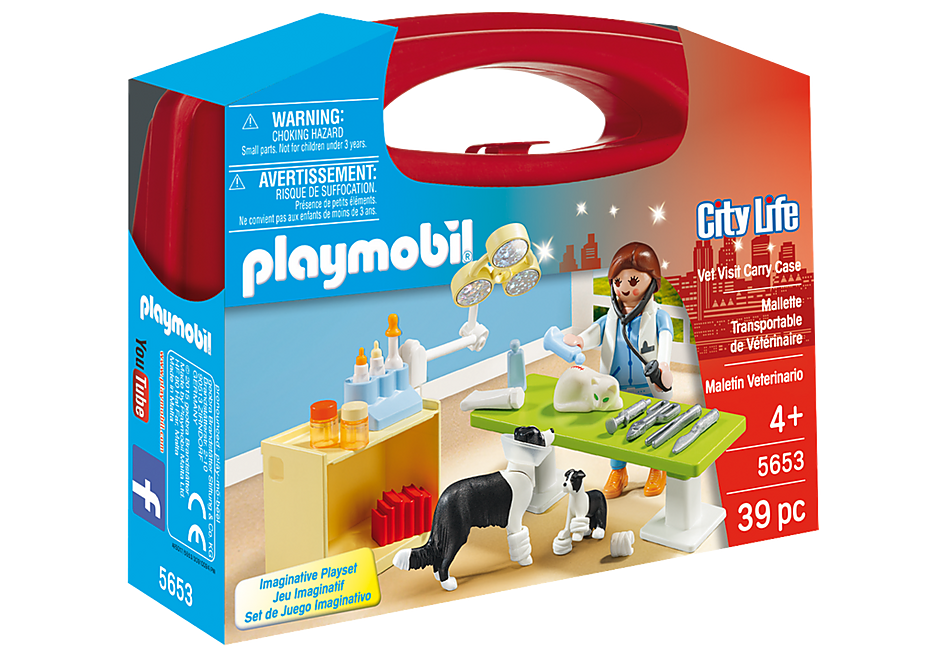 Playmobil 5653 Vet Visit Carry Case