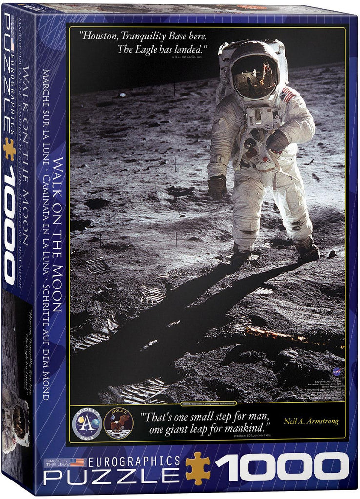 Eurographics Walk on the Moon 1000 Piece Jigsaw Puzzle