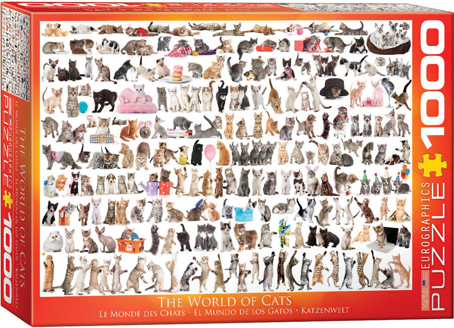 Eurographics World of Cats 1000 Piece Jigsaw Puzzle