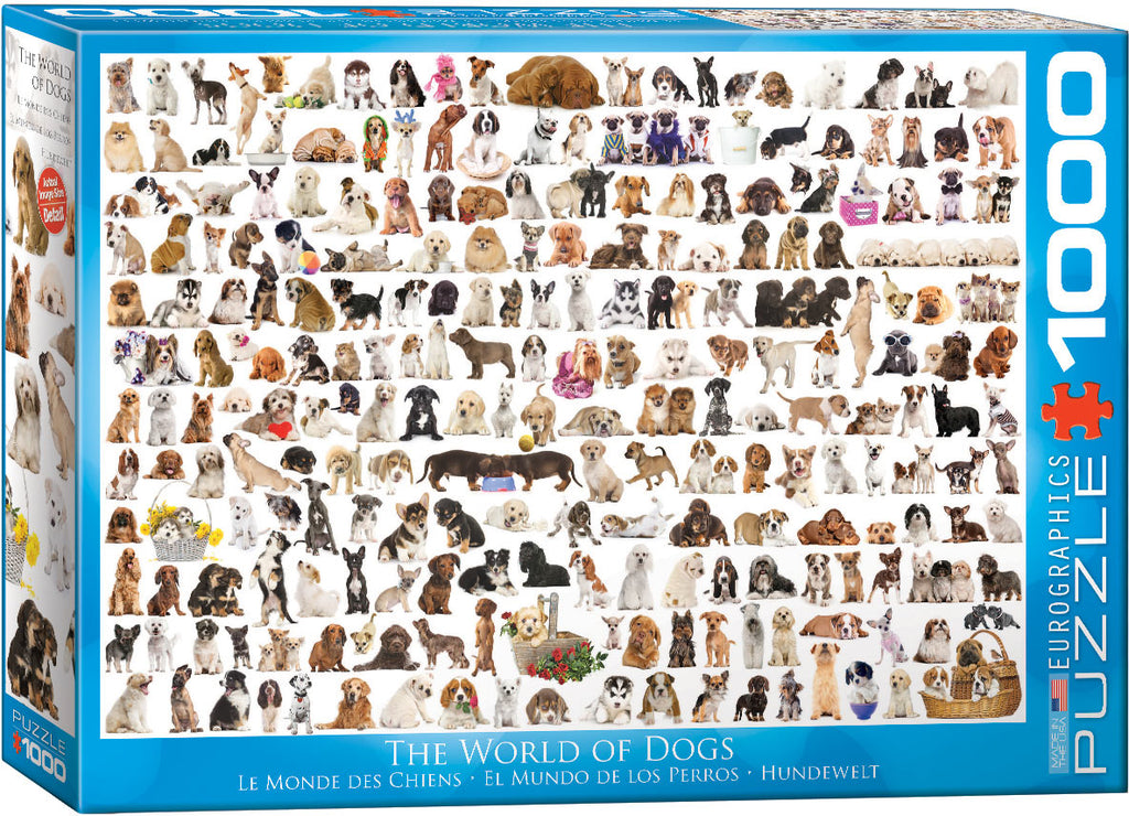 Eurographics World of Dogs 1000 Piece Jigsaw Puzzle