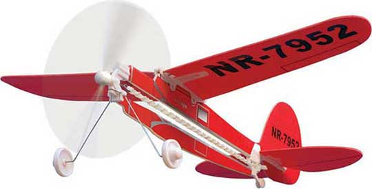XX Lockheed Vega Rubber Powered Flying Airplane