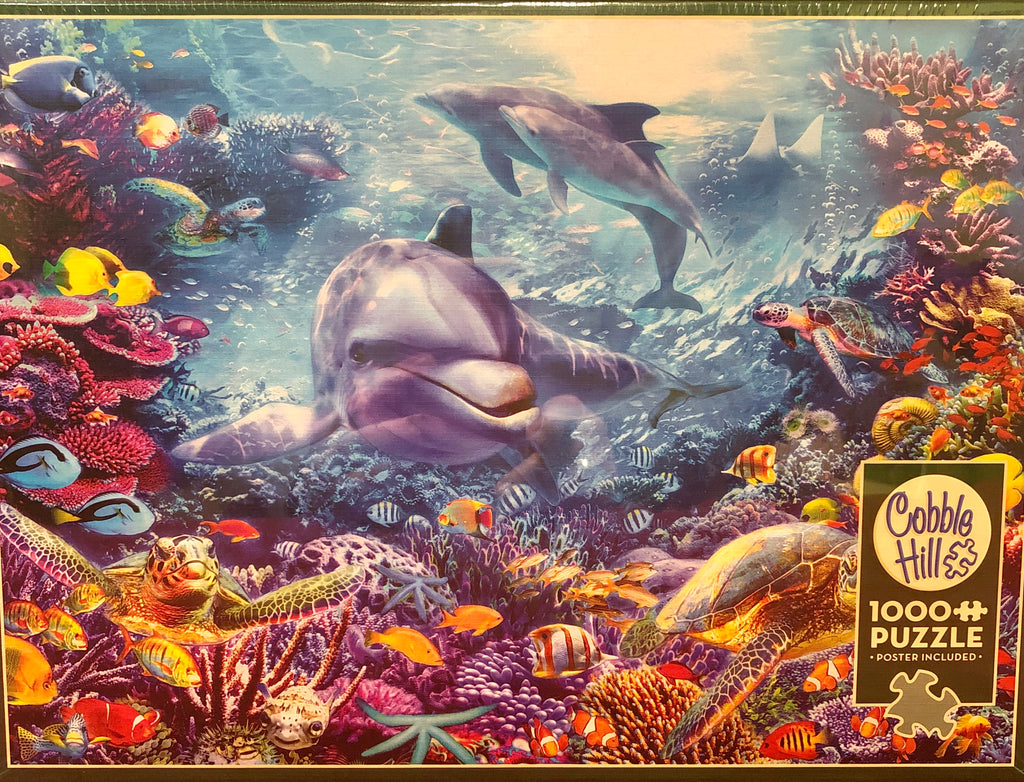 Cobble Hill Dolphins at Play 1000 Piece Random Cut Jigsaw Puzzle