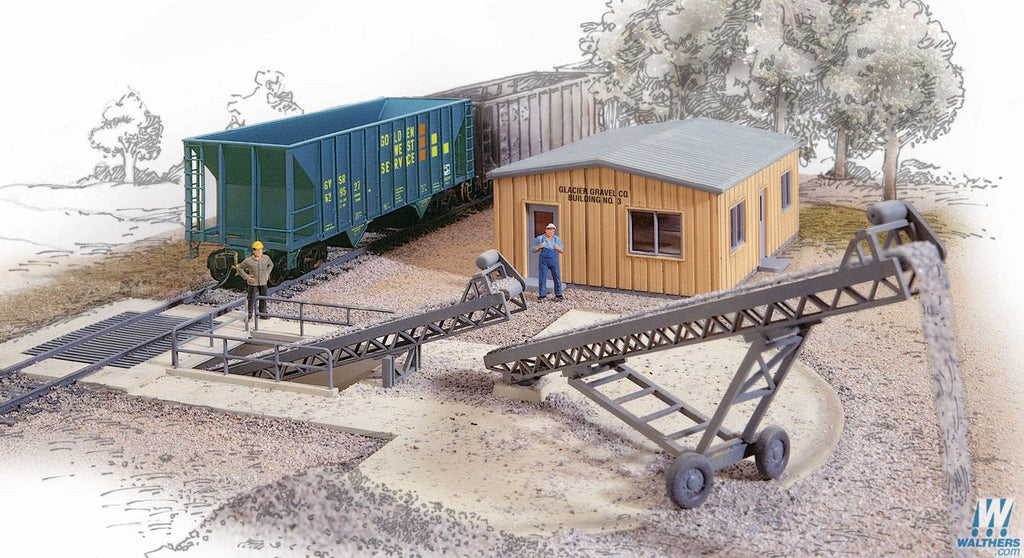 Walthers Cornerstone HO Scale Bulk Transfer Conveyor Kit
