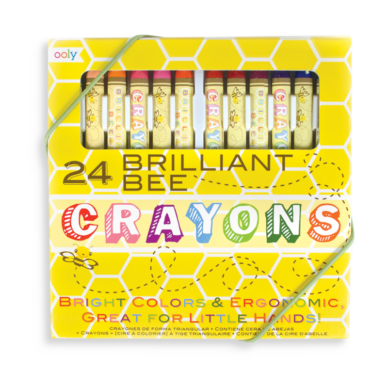 Ooly Brilliant Bee Crayons