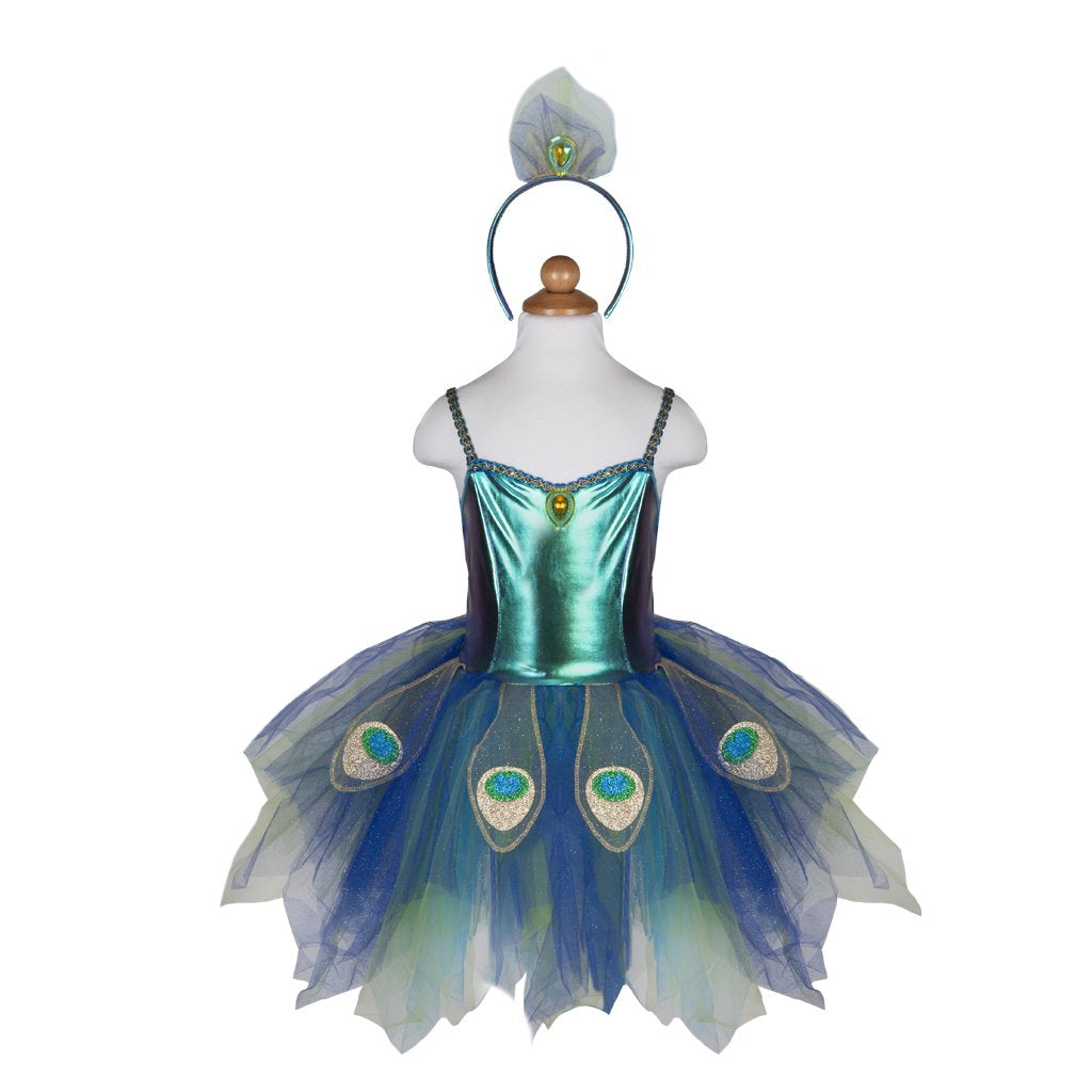 GP Pretty Peacock Dress & Headband