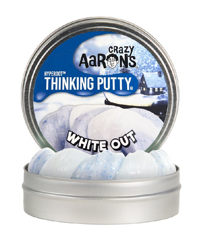 Crazy Aaron White Out Thinking Putty