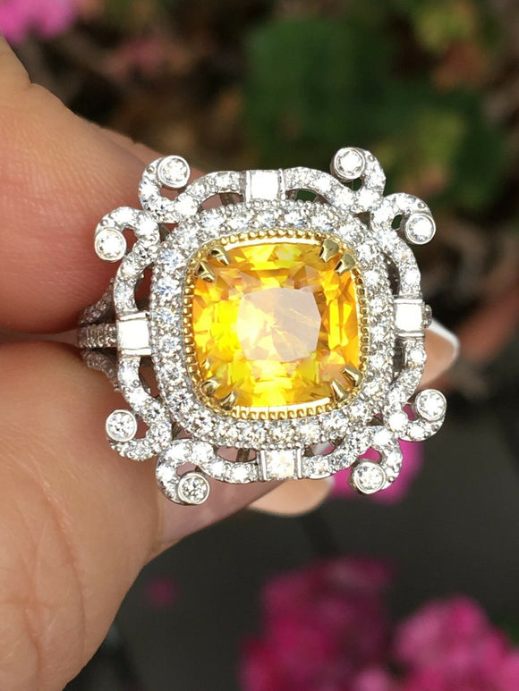 18K GOLD 6.37 CT GIA CERTIFIED