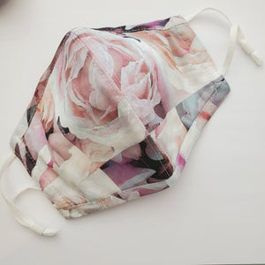 Organic Cotton Mask w/adjustable ear loops - Floral Patch