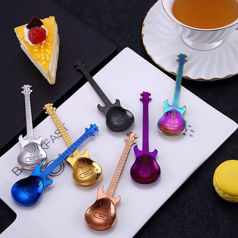 7pcs Creative Guitar- Shaped Spoon Set