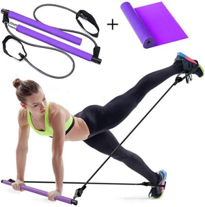 Camari Gear Sports ™  Portable Pilates Bar  Resistance Band Kit