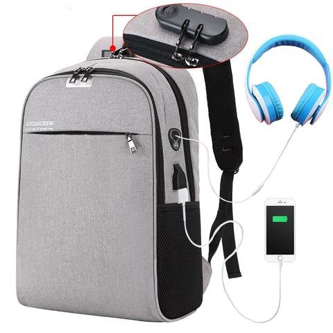 Image of Amazing Anti Theft Backpack With Usb Charging Port