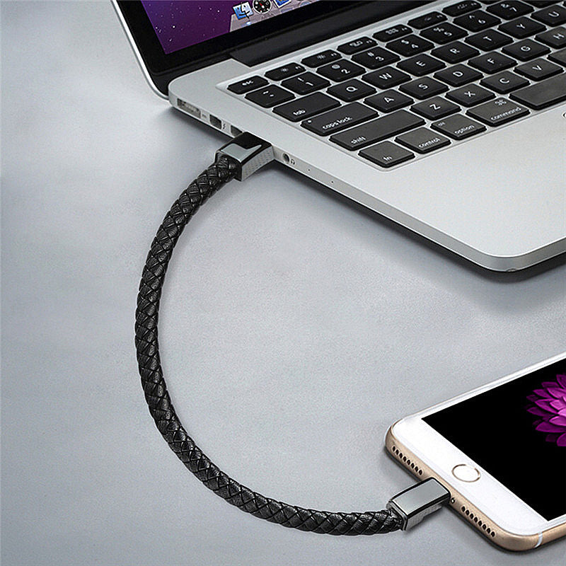 Portable Leather USB Bracelet Charger