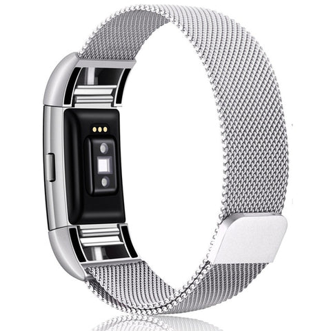 Image of Magnetic Stainless Steel Milanese Loop Band for Fitbit Charge 2 & 3