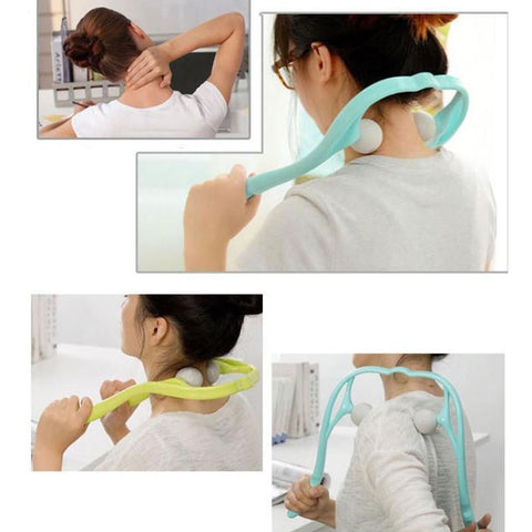Image of Dual Trigger Point Self-Massager for Neck & Shoulders