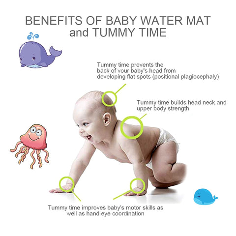 Amazing Inflatable Tummy Time Premium Water mat For Infants & Toddlers