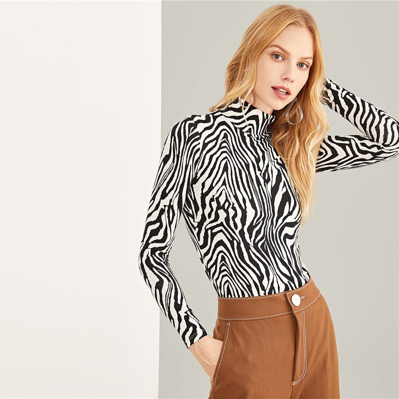 Zebra Print Long Sleeve