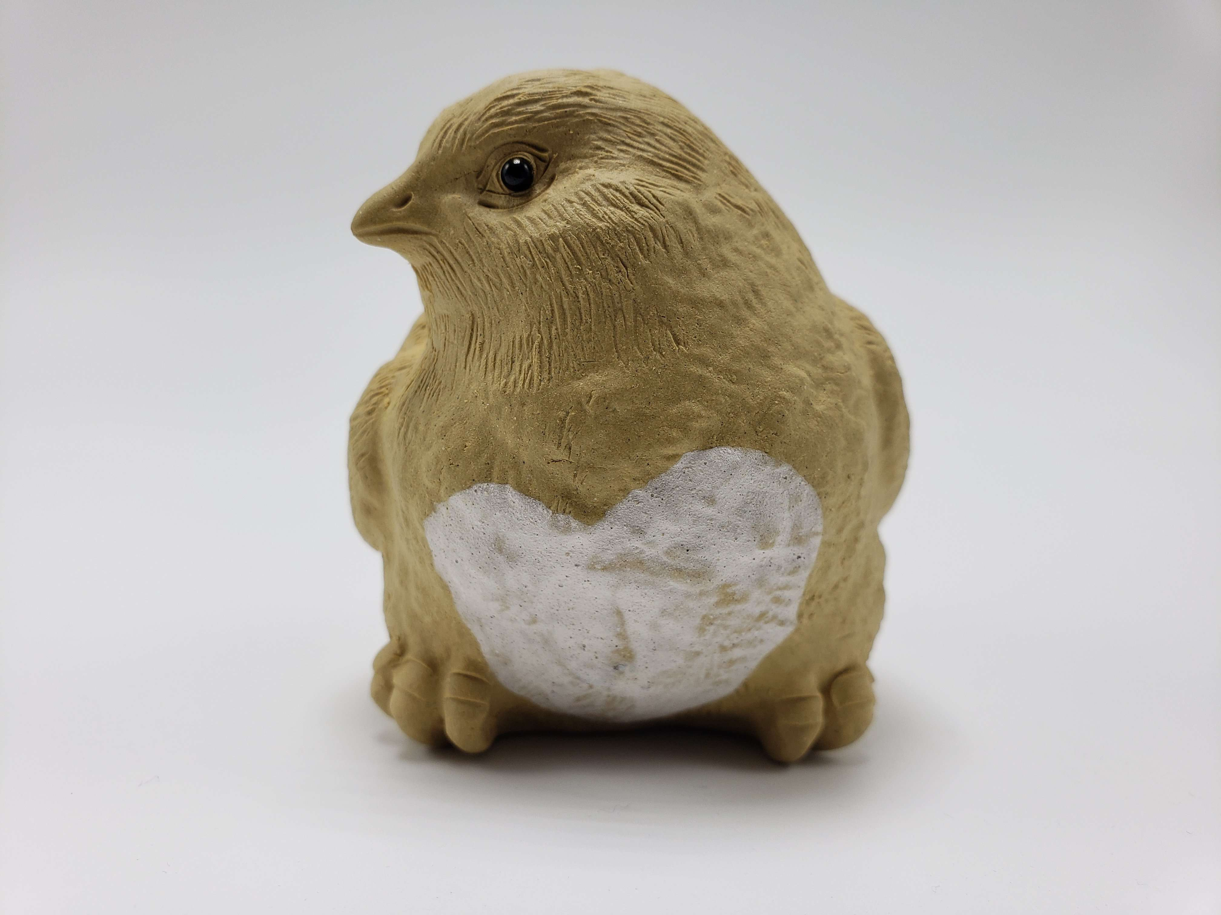 Baby Chick Clay Statue (Facing Right Shoulder) Accessories Teshuah Tea Company