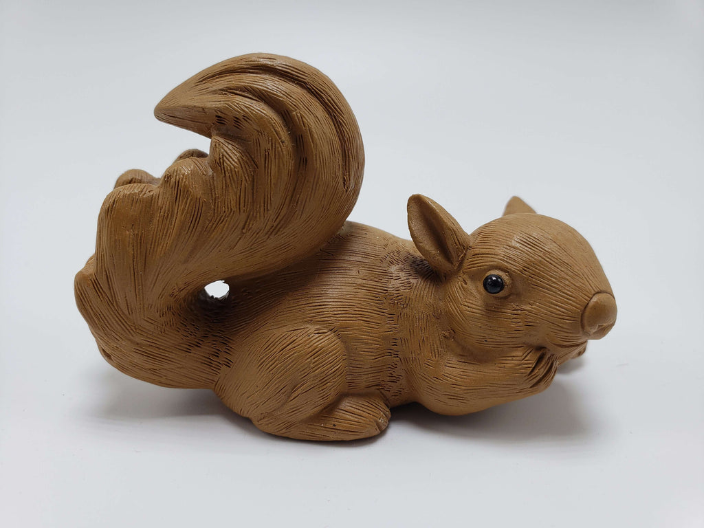 Caramel Colored Squirrel Clay Statue Accessories Teshuah Tea Company