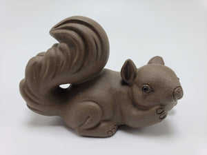 Chocolate Colored Squirrel Clay Statue Accessories Teshuah Tea Company
