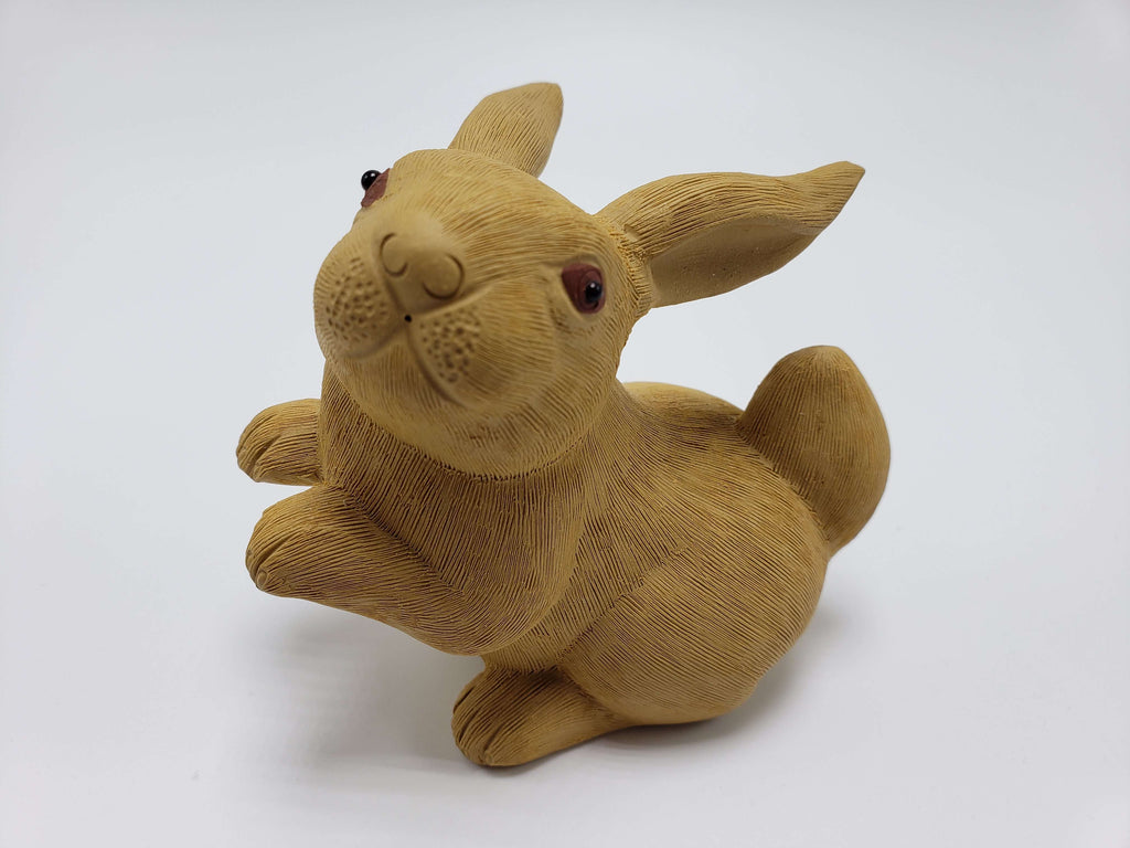 Tan Rabbit Clay Statue Accessories Teshuah Tea Company