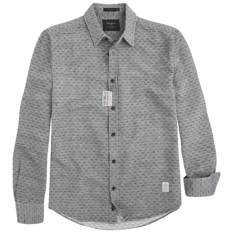 PEPE MEN'S TINDALL LONG SLEEVE SHIRT GREY MARL - CIRCA75 MENSWEAR