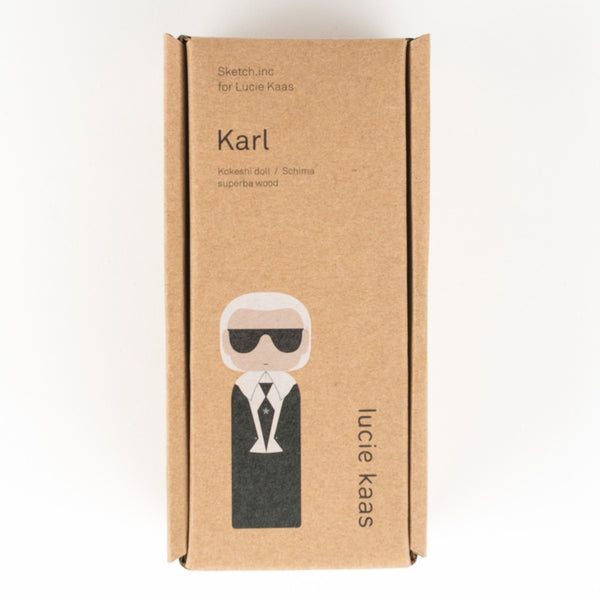 Sketch.inc for Lucie Kaas Karl Lagerfeld Wooden Kokeshi Doll