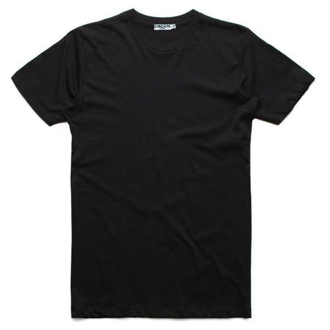 CIRCA75 ROUND NECK MUSCLE FIT T-SHIRT BLACK - CIRCA75 MENSWEAR