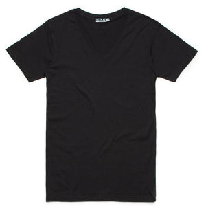 CIRCA75 V-NECK MUSCLE FIT T-SHIRT - BLACK - CIRCA75 MENSWEAR