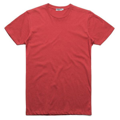 CIRCA75 CREW NECK MUSCLE FIT T-SHIRT - RED - CIRCA75 MENSWEAR
