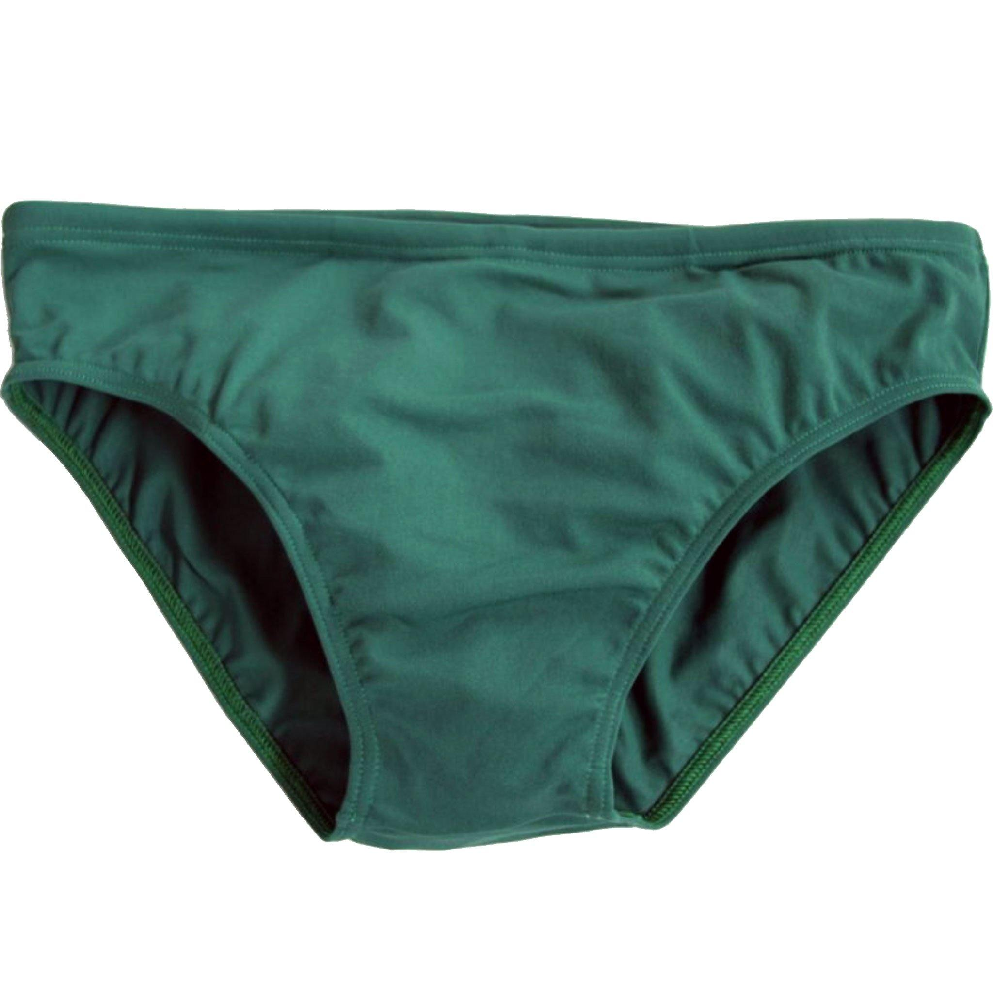 CIRCA75 Men's Chlorine Resistant Swimming Brief Bottle Green