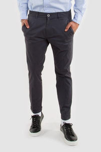 DR DENIM MEN'S DIGGLER SLIM TAPERED FIT CHINO - DARK GREY - CIRCA75 MENSWEAR
