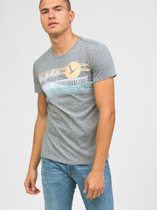 Sol Angeles Sunset Pier Men's Crew Neck T-Shirt - Heather