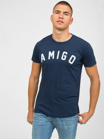 Sol Angeles Amigo Men's Crew Neck T-Shirt - Indigo