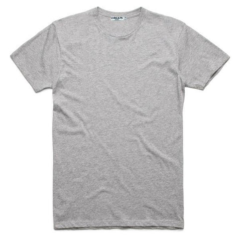 CIRCA75 CREW NECK MUSCLE FIT T-SHIRT - GREY MARLE - CIRCA75 MENSWEAR