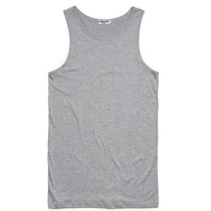 CIRCA75 MENS MUSCLE FIT SINGLET - GREY MARLE - CIRCA75 MENSWEAR