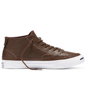 733631ae6265 Converse Jack Purcell 2 Signature Shield Leather Mid Chocolate Mens 8