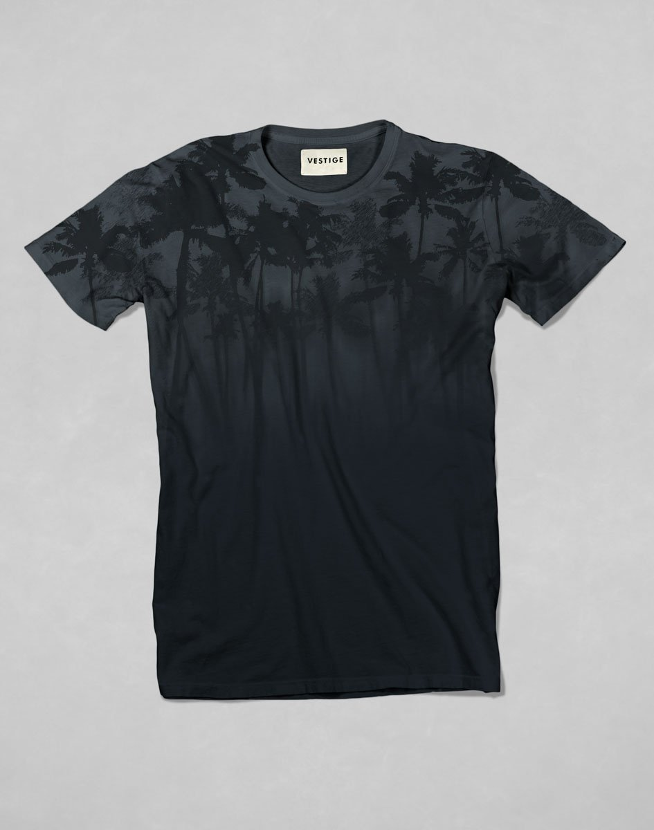 Vestige Men's Lost Black Print T-Shirt - CIRCA75 MENSWEAR