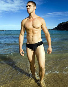 CIRCA75 SWIM BRIEF - BLACK
