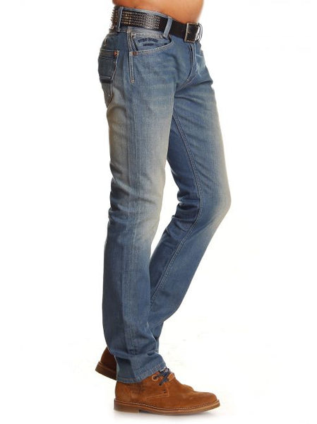 Pepe Spike Slim-Fit Men's Jean - Faded Wash W30/L34