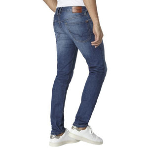 PEPE MEN'S WASHED LIGHT BLUE DENIM SLIM FIT JEANS - CIRCA75 MENSWEAR