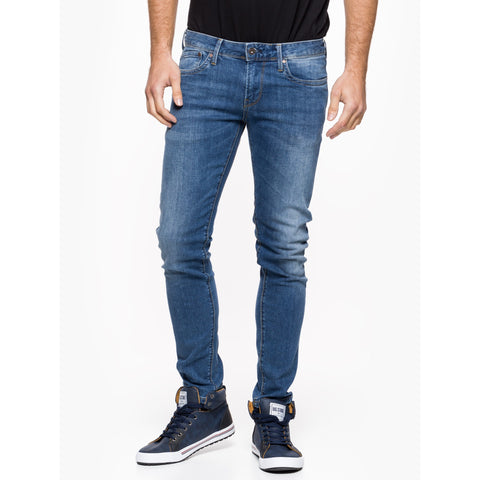 Pepe Hatch Slim-Fit Men's Jean - Mid Blue W34/L34