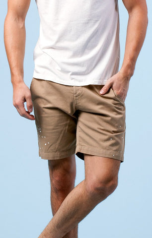 SOL ANGELES MEN'S SPLATTER CHINO SHORT KHAKI - CIRCA75 MENSWEAR