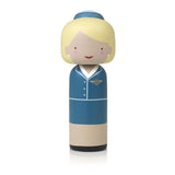 Lucie Kaas Sketch inc Kokeshi Doll - Pan Am