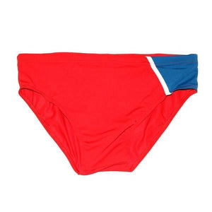 CIRCA75 SPLICED SWIM BRIEF - RED/BLUE