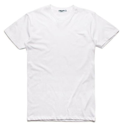 CIRCA75 CREW NECK MUSCLE FIT T-SHIRT - WHITE - CIRCA75 MENSWEAR