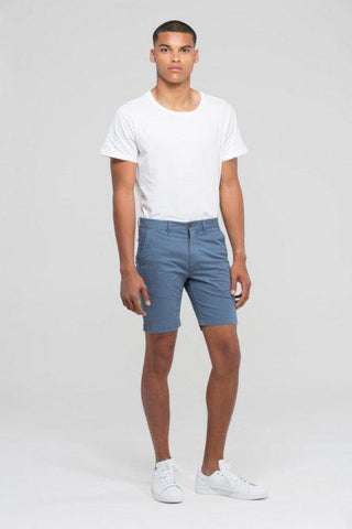 DR DENIM MEN'S WOOD CHINO SHORTS BAD NEWS BLUE - CIRCA75 MENSWEAR