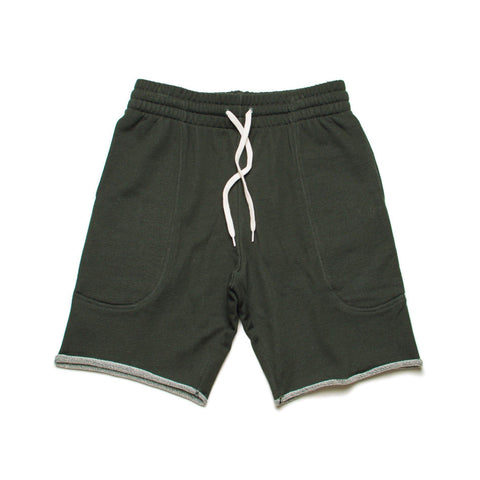CIRCA75 SLIM FIT SWEAT SHORT - HUNTER GREEN MARLE - CIRCA75 MENSWEAR
