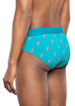Happy Socks Men's Flash Underwear Brief - Teal