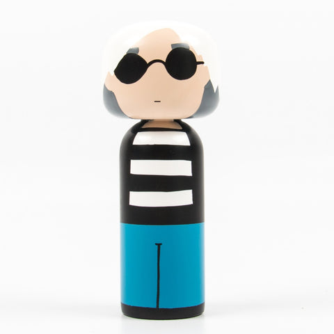 Lucie Kaas Sketch inc Kokeshi Doll - Andy Warhol