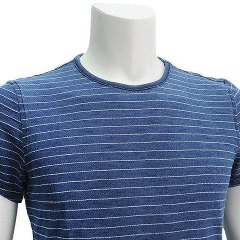 PEPE MEN'S ARMADALE INDIGO STRIPE T-SHIRT DARK BLUE - CIRCA75 MENSWEAR
